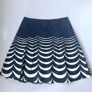 BODEN Navy & White Riviera Fit & Flare Skirt 12
